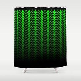 Dark Forest Geometric Shower Curtain
