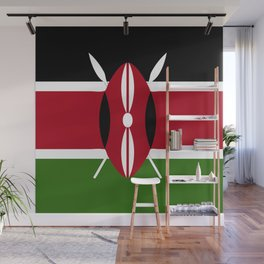 Kenya flag emblem Wall Mural