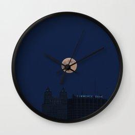 Full Moon Rising Wall Clock