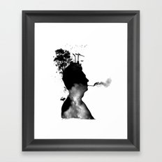 URBAN BLACK MAN Framed Art Print