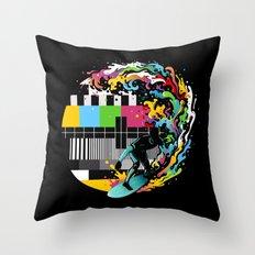 Pattern Surfer Throw Pillow