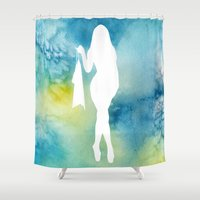sexy Shower Curtains featuring Sexy by Cs025