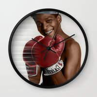 basquiat Wall Clocks featuring Basquiat * by zombielombii