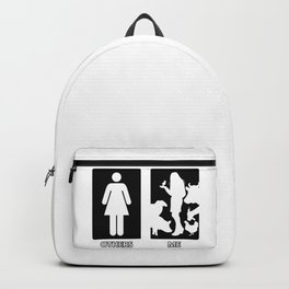 Others vs. Me (woman) - farm animals Backpack