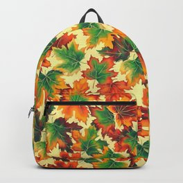 Autumn maple leaves I Backpack
