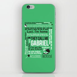 Supernatural - Gabriel Quotes iPhone Skin