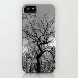 Witchy black and white tree iPhone Case