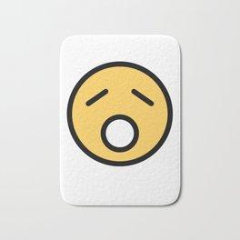Smiley Face   Sad Sleepy Looking Bath Mat