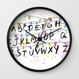 Alphabet Wall Christmas Lights Wall Clock