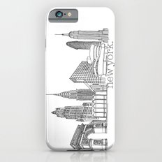 NYC Landmarks by the Downtown Doodler Slim Case iPhone 6