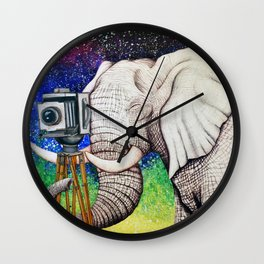 Elephant II Wall Clock