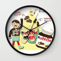 nutella Wall Clocks featuring I {❤} NUTELLA by lilycious