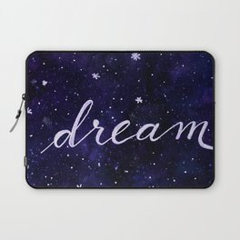 Watercolor galaxy dream - dark blue Laptop Sleeve