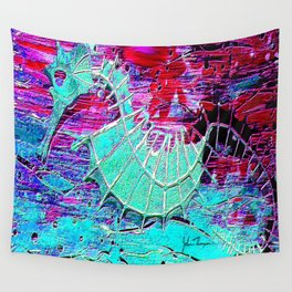 Seahorse Skeleton Wall Tapestry
