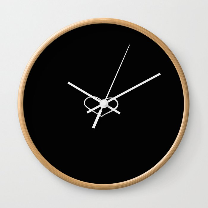 White Heart Wall Clock By Ldor Society6