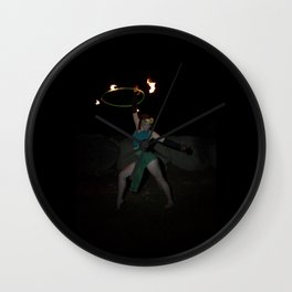 Halo of Fire - Fire Hoop Performance Wall Clock
