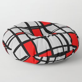 Gridlock - Abstract Floor Pillow