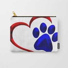 Paw Print on My Heart Carry-All Pouch