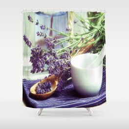 Lavender Time Shower Curtain