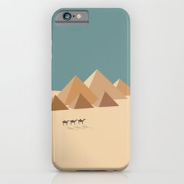 Pyramids at Giza, Egypt Travel Poster iPhone Case