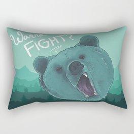 Bear Fight Rectangular Pillow