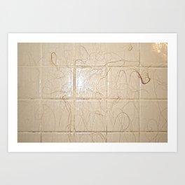 Hair on Ceramic Tile Art Print
