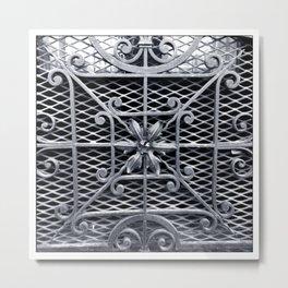 Metal Flower Arrangement - Architecture (BnW) Metal Print