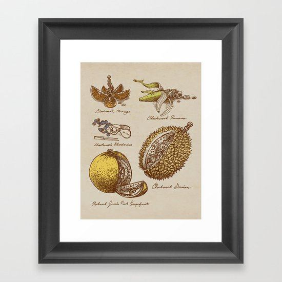 Steampunk Fruit  Framed Art Print
