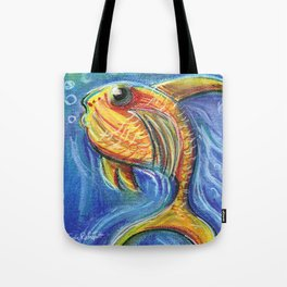 Vivid Fish For Children Pastel Chalk Drawing Tote Bag