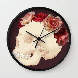Flower Skull Wall Clock