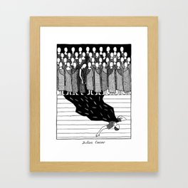 Shakespearean Death Scenes--Julius Caesar Framed Art Print