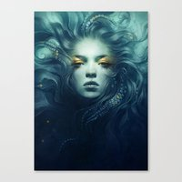 ink Canvas Prints featuring Ink by Anna Dittmann