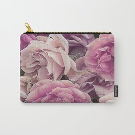 Great Garden Roses pink Carry-All Pouch