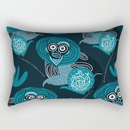Teal Kipunji Monkeys Rectangular Pillow