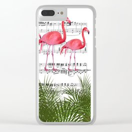 Flamingo dance Clear iPhone Case