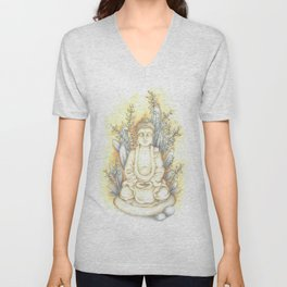 Bouddha Unisex V-Neck