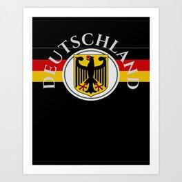 Deutschland ...German Flag and Eagle Art Print