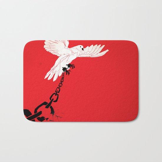 "Glue Network Print Series ""Justice & Freedom"" Bath Mat"