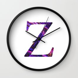 "Initial letter ""Z"" Wall Clock"