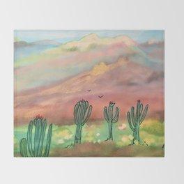 Saguaro Throw Blanket