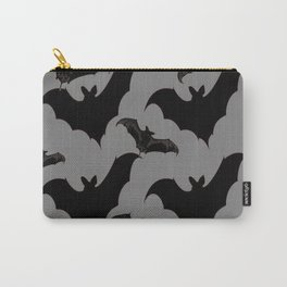 HALLOWEEN BATS ON CHARCOAL GREY WILDLIFE ART Carry-All Pouch