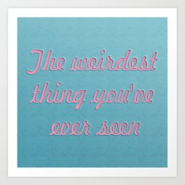 For my lovely hipsters Art Print