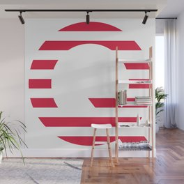 Qanon American Red Patriotic Stripes USA Great Awakening Q Wall Mural