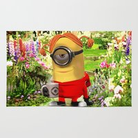 minions Area & Throw Rugs featuring MINION by DisPrints