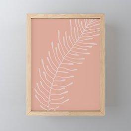 Blush Fern Shape Framed Mini Art Print