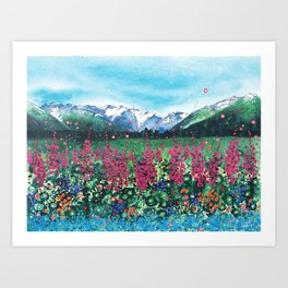 Fire in the Valley Art Print