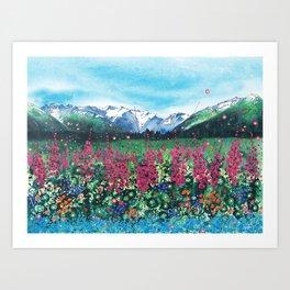 Girdwood Valley Art Print