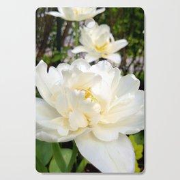 Three double tulips Cutting Board