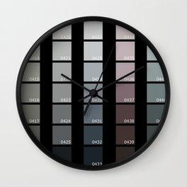 Shades of Grey Pantone Wall Clock