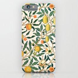 Fruit Vintage William Morris pattern design iPhone Case